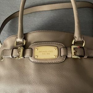 Michael Kors Taupe East West Hamilton Bag